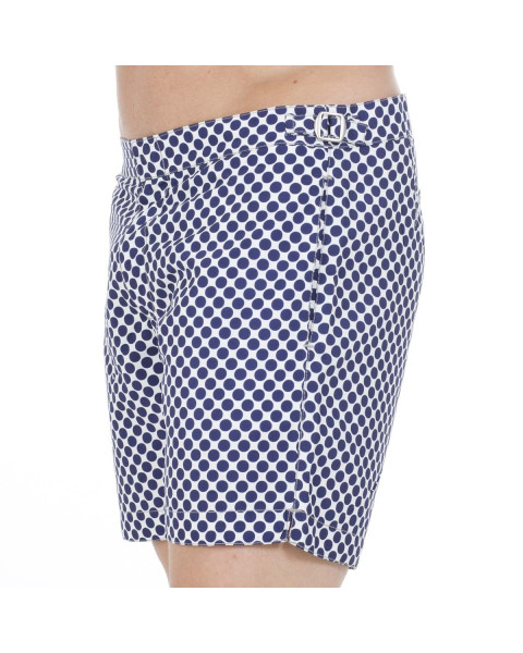 Short pier st barth navy polka
