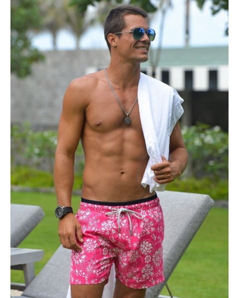 Pier saint barth hot pink floral